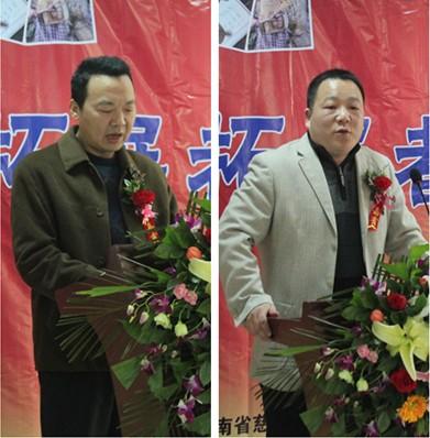 河南慈捐赠部部长崔广文先、建培董事长靳先生讲话